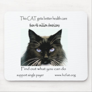 Cat gets better health care mouse mat
