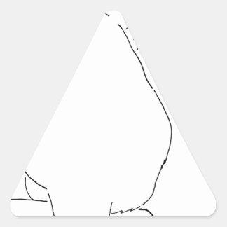 Cat Gift Shops.jpg Triangle Sticker