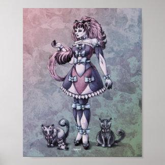 Cat Goddess Fantasy Art 8x10 Print