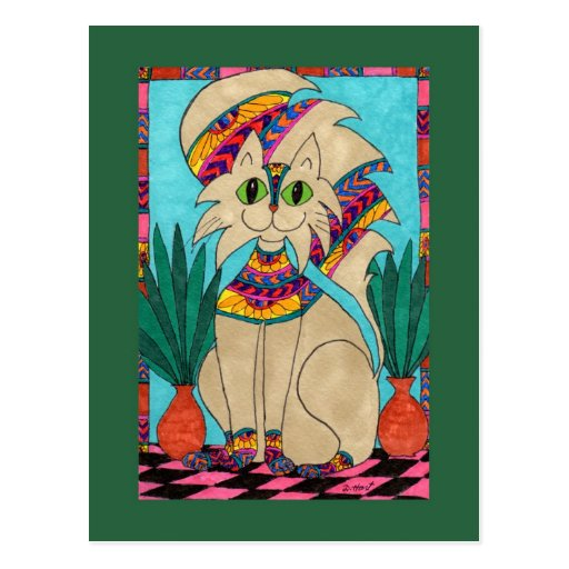 Cat Goddess Postcard