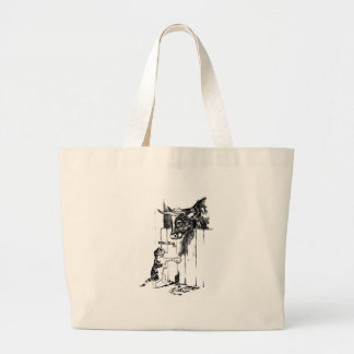 Cat Goes to Cow for Milk Jumbo Tote Bag
