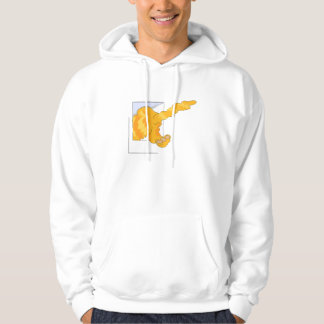 Cat Going Out Door Hooded Pullover
