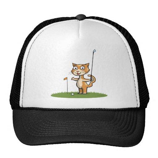 Cat Golf Mesh Hats