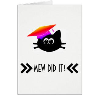 CAT Graduation Card