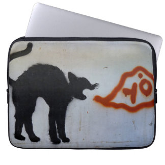 Cat graffiti laptop sleeve. laptop sleeve