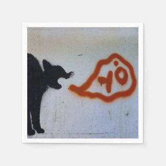 Cat graffiti napkins. paper serviettes