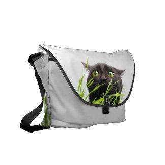Cat & Grass. Messenger Bag