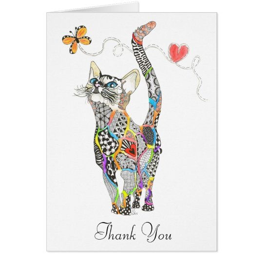 Cat Greeting Card (You can Customise)