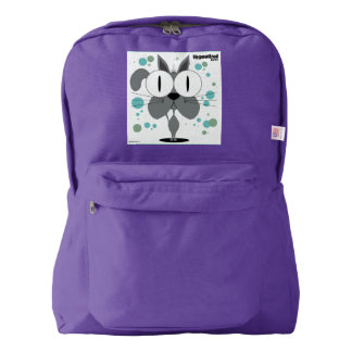 Cat(Grey) Backpack, Amethyst Backpack
