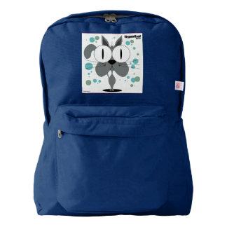 Cat(Grey) Backpack, Navy Backpack