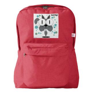 Cat(Grey) Backpack, Red Backpack
