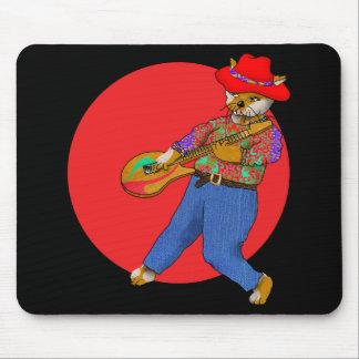 Cat Guitarist Mouse Pad