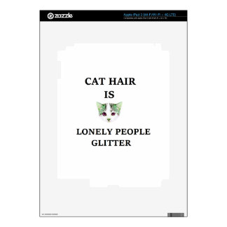 Cat Hair Is Lonely People Glitter iPad 3 Skin
