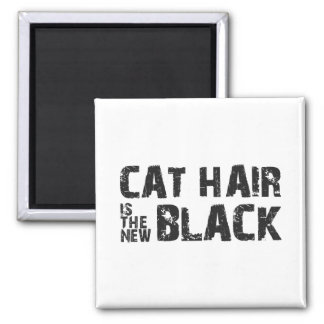 Cat Hair is the New Black Square Magnet