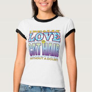 Cat Hair Love Face T Shirts