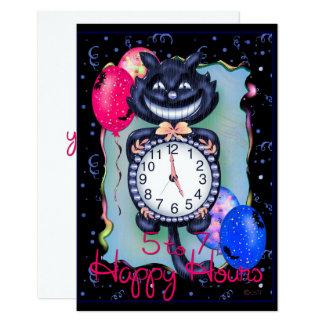 "CAT HALLOWEEN 3.5"" x 5"" Card"
