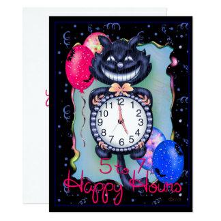 "CAT HALLOWEEN 5.5"" x 7.5"" Card"