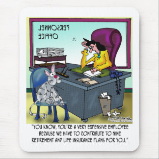 Cat Has 9 Life Insurance Plans Mouse Mat