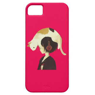 CAT HAT - Anime Child with Cat iPhone 5 Covers