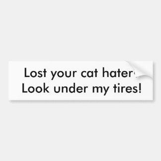 Cat hater Bumper Sticker