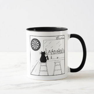 Cat Haters Dartboard Cartoon Mug