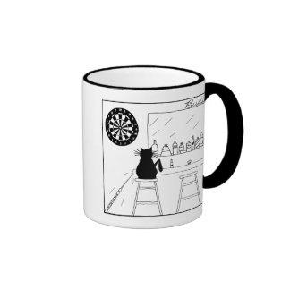 Cat Haters Dartboard Cartoon Mug