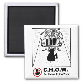Cat Haters Truck Cartoon Magnet