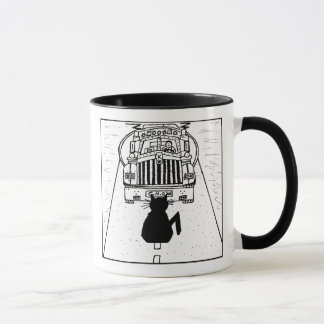 Cat Haters Truck Cartoon Mug