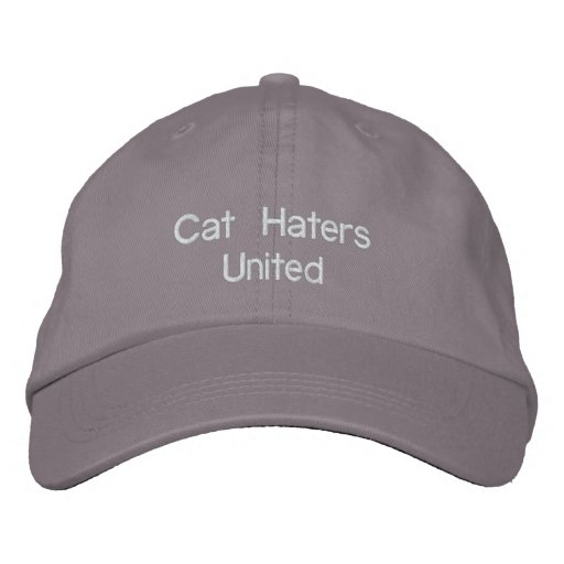 Cat Haters United Embroidered Hat
