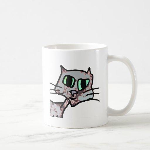 Cat Head 1 Mugs