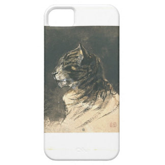 Cat head by Eugene Delacroix Barely There iPhone 5 Case