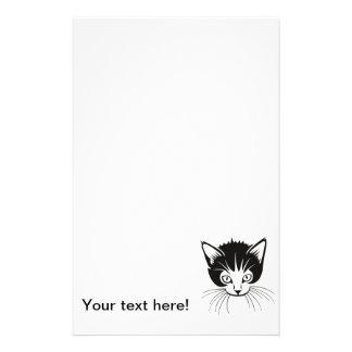 Cat head cartoon personalized stationery