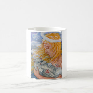 CAT HEAVEN White Persian Cat Angel Mug