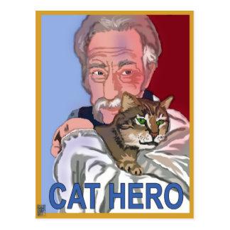 'Cat Hero' Postcard