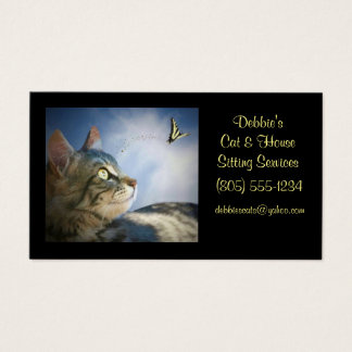 Cat & House Sitting Business Cards
