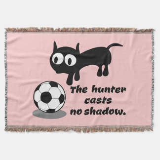 Cat Hunting A Ball Throw Blanket