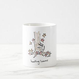 Cat Hunting Leaves Mug