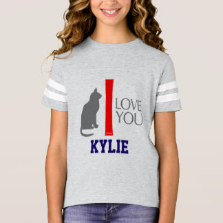 Cat + I Love You ''YOUR NAME'' Custom by VIMAGO T-Shirt
