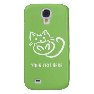 Cat Illustration custom color HTC cases Galaxy S4 Case