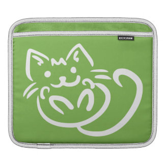 Cat Illustration custom color iPad sleeve