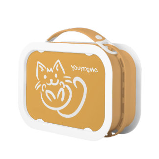 Cat Illustration custom color lunch boxes