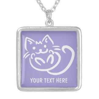Cat Illustration custom necklace