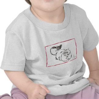 "cat, i'm bored 'line drwing"" tee shirt"