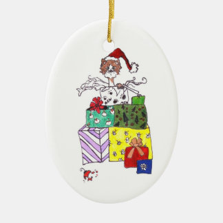 Cat in a Box Christmas Ornament