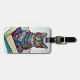 Cat In a Box Luggage Tag