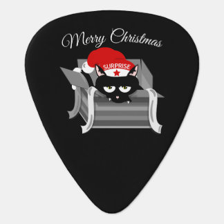 Cat in a box Merry Christmas Plectrum
