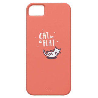Cat in a Flat iPhone 5 Case