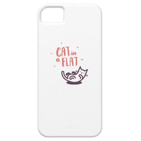 Cat in a Flat iPhone 5 Covers