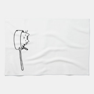Cat in a Pot Kitchen Towel