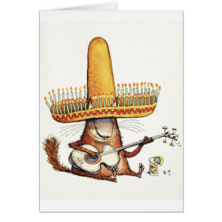 Cat in a Sombrero Card